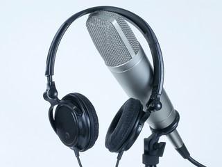 headphones on mic