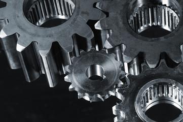 different gears against velvet