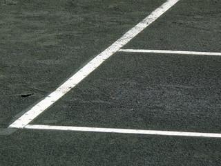 corner of tennis court