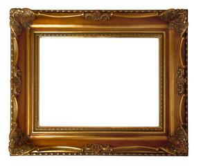 antique wooden golden frame