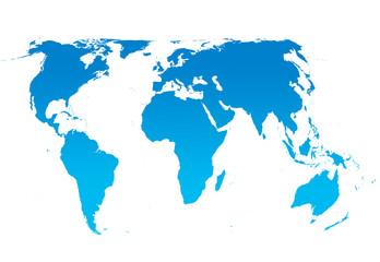 Spoed Foto op Canvas Wereldkaart world globe cold