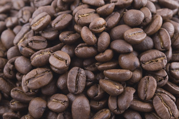 big pile of coffee beans