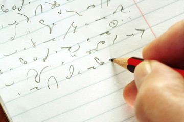 taking shorthand