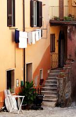 details of a little italian village