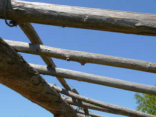 wood supports