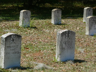 tombstones at old fort