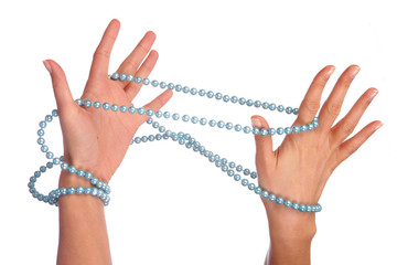 hands and pearls