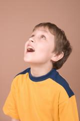 smiling boy portrait