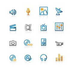 color contour media icons