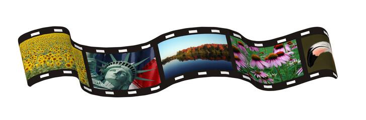 a photo film strip