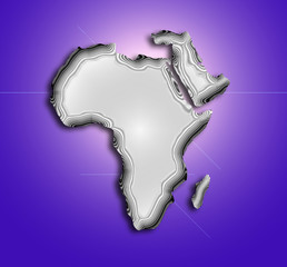 stylized topographical map of africa
