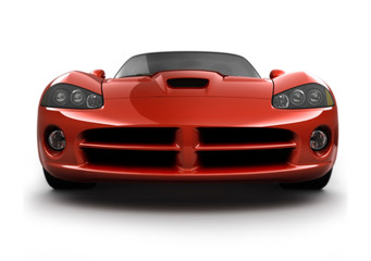 Printed roller blinds Fast cars front view of a fast sports car