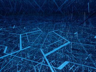 diagonal fibre tangle