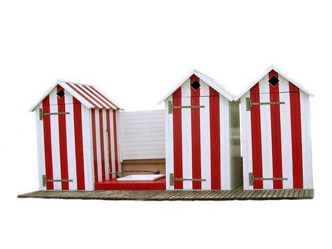 3 cabines de plage