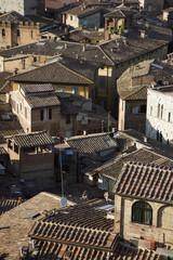Terra cotta rooftops in Italy.