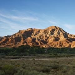 Rock formation in desert of Zion National Park, Utah.