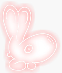 pink small hare.