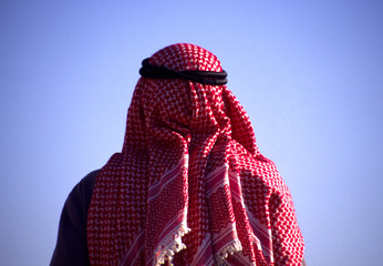 arab man with head scarf
