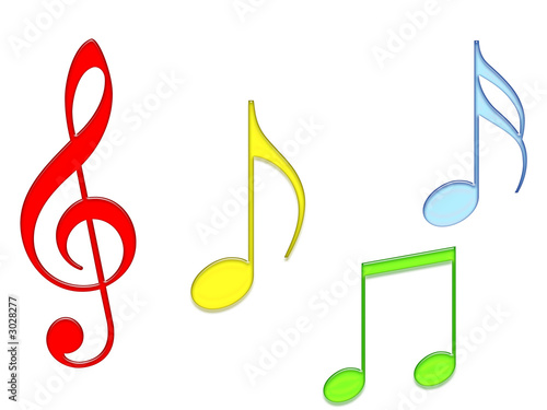 colored music notes stock photo and royalty free images on fotolia