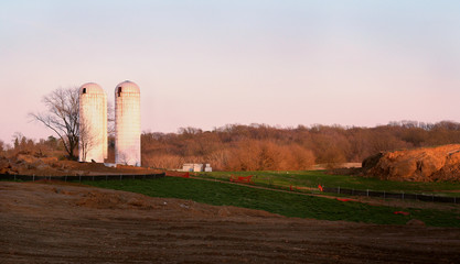 silos on site of new school