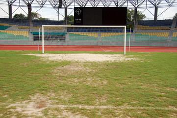 football goal poles and score board