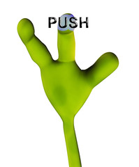alien hand pushing button 225