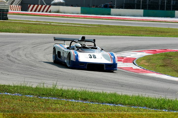 Fotobehang Snelle auto s racing car at the track