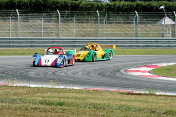 Fotobehang Snelle auto s racing cars at a track