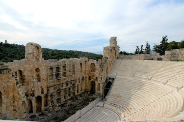 an arena at the acropolis in athens