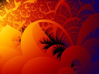 sfondo geometrico rosso