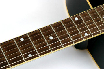 close up of the beck of a guitar