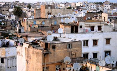 casablanca et ses toits aux antennes satellite