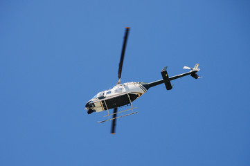 sightseeing helicopter in flight