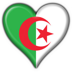 bottone cuore algeria button heart flag