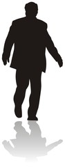 silhouette of businesman