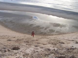 lost in beach