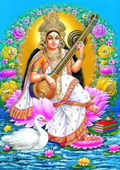 indian godess saraswate maa