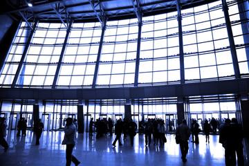 Photo sur Aluminium Aeroport big window in airport