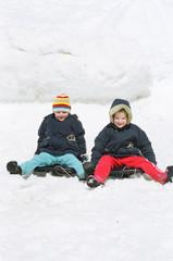 girls on sledge
