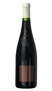 bouteille de vin rouge etiquette rouge