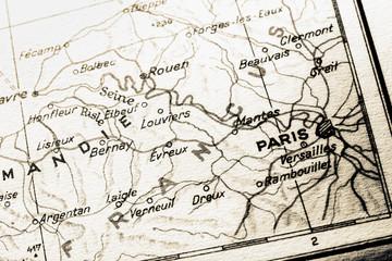 france map with paris
