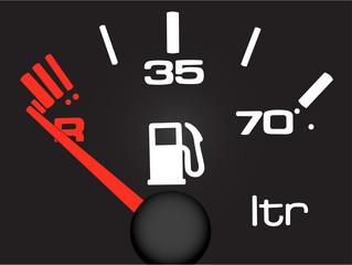 petrol meter.