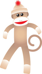 happy sock monkey