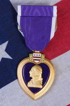 american purple heart medal vertical image