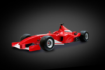 Deurstickers Snelle auto s red formula one car in black background