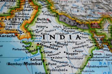 In de dag India map