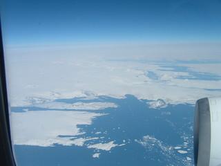 glaces polaires  vues d'avion