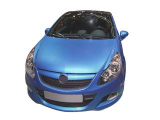 Foto op Canvas Snelle auto s front of blue car