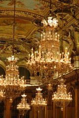 lustre and ceiling - baroque design