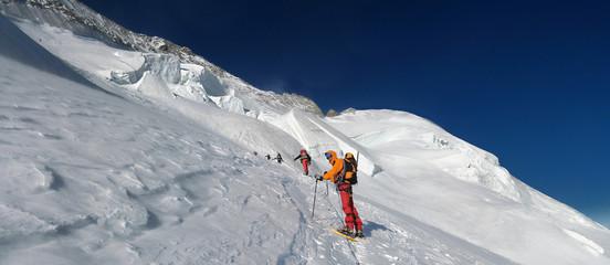 alpiniste aux ecrins